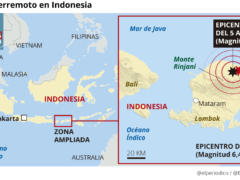 Implacable terremoto sacudió a Indonesia